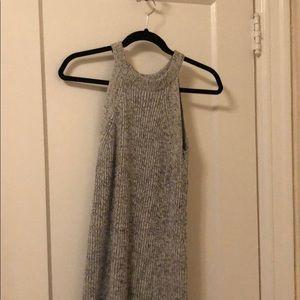 Madewell grey marl sweater dress